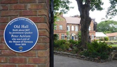Old Hall Blue Plaque 2