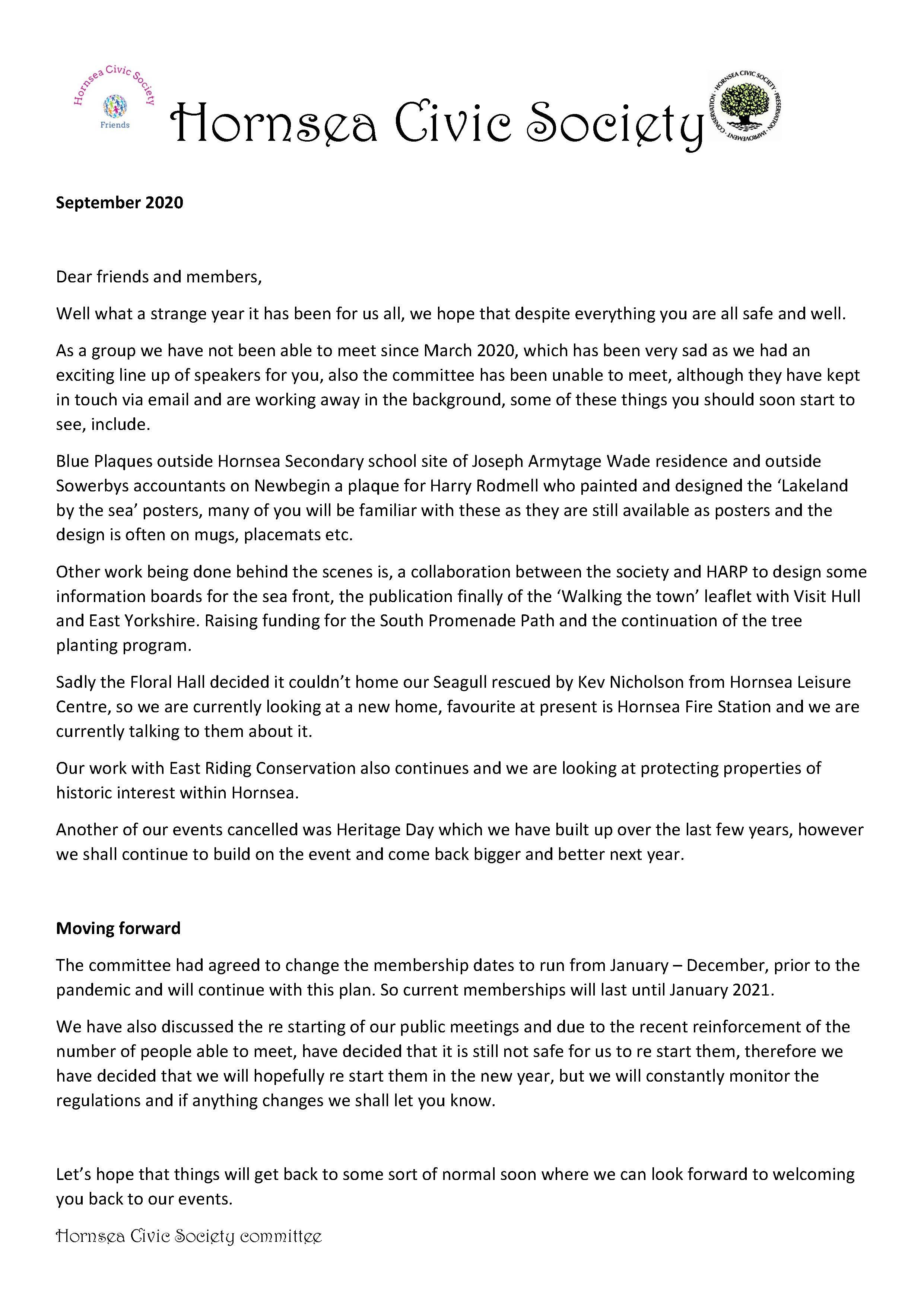 civic newsletter 2020